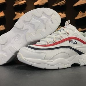Fila Ray Women White Synthetic Low Top Lace Up Sne